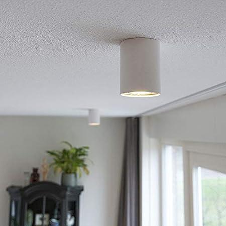 Qazqa Spot au Plafond | Éclairage de plafond Design Moderne - Rondoo Up Lampe Blanc - GU10 - Convient pour LED - 1 x 50 Watt