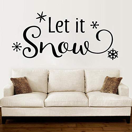 AKmene Decoración nevando Pegatinas de Pared de Vinilo habitación de bebé Dormitorio Sala de Estar decoración del hogar 48x106cm