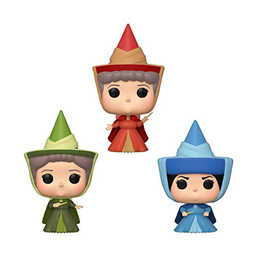 Funko Pop! Disney: Sleeping Beauty - Flora, Fauna, & Merryweather Fairy Godmother 3 Pack, Spring Convention Exclusive, Multicolor