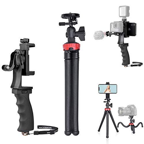 Vlogging Video Hand Grip Bundle/ Smartphone/ Camera Remote Tripod