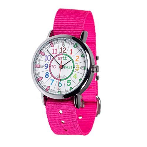 """EasyRead Time Teacher ERW-COL-PT-PK, Armbanduhr für Mädchen zum Lernen der Uhrzeit im """"Minuten nach""""/""""Minuten vor""""-Stil (Past/To), englischsprachiges Zifferblatt"""
