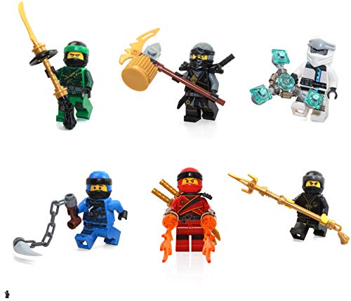 Lego Ninjago Kai Lloyd Jay and Pyro Whipper FS Spinjitzu Slam Minifigures Collector Foil Pack Combo