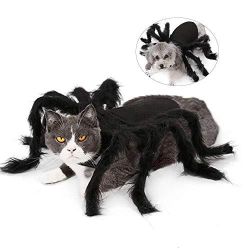 Disfraces de Halloween para Perros y Gatos Disfraces de Cosplay, Furry Giant Simulation Spider Pets Trajes para Divertidos Disfraces de Perros Perros Gatos (Tamaño: M)