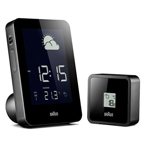 Braun BNC013BK-RC Temperature/Humidity Quartz Alarm Clock