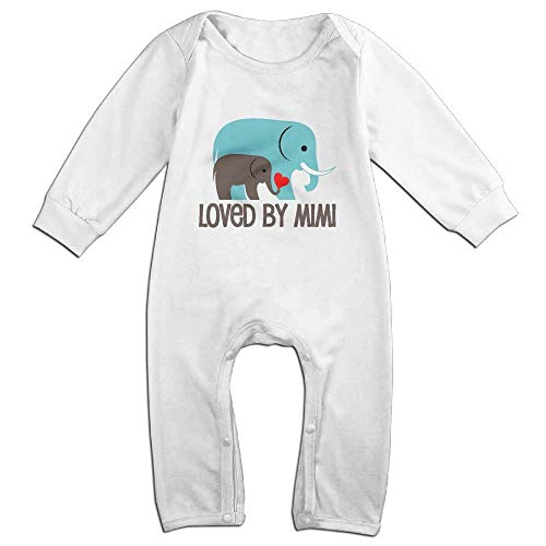 SDGSS Ropa para bebés Bodysuits Loved by Mimi Newborn Baby Onesie For 6-24m Baby