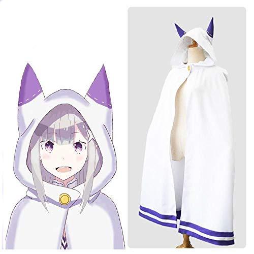 Cosplay Kleidung Emilia-Ohr-Umhang Kostüm Re: Das Leben In Einer Anderen Welt from Zero Anime Dress Up Christmas Halloween-Abendkleid L