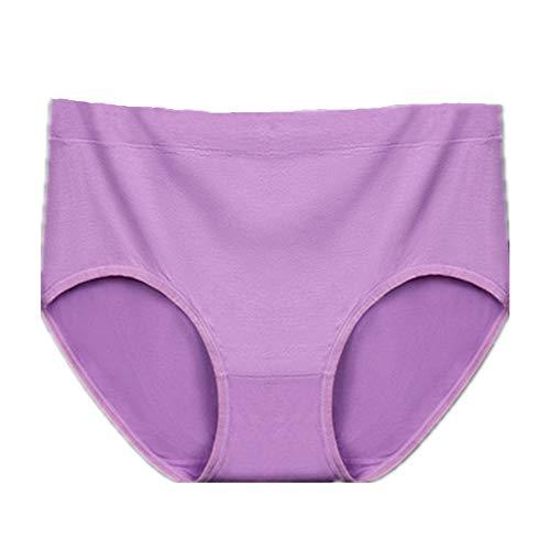 N\P Gran tamaño de la ropa interior de las mujeres de la cintura media color sólido fondo de algodón ropa interior