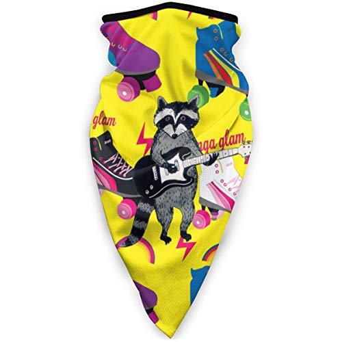 BJAMAJ Gesichtsmaske mit Rollschuh-Muster, winddicht, Sport-Maske, Schal, Bandana für Herren und Damen