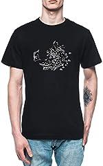 Dominó Borrachos Hombre Camiseta tee Negro Men's Black T-Shirt