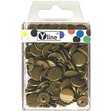 Botones de presión de plástico (25 unidades, 12,4 mm, latón envejecido, color oliva), botones de...
