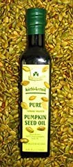 Roasted Styrian pumpkin seed oil is aromatic and rich in flavor The pumpkin seeds are dried and then roasted Pumpkin seed oil is one of the healthiest oils because it is high in monounsaturated fat content and contains a number of vitamins such as A,...