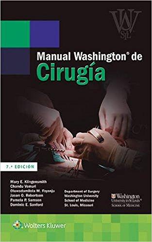 Manual Washington de cirugía (Spanish Edition)