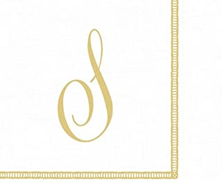 Monogrammed Initials Cocktail Napkins Gold Letter Script 120 Napkins S