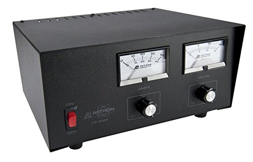 New Astron Power supply with meters and adjustable voltage - 35 Amp.