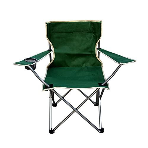 YICHEN Chaise Monobloc D'extérieur Portable avec Accoudoirs/Chaise Pliante/Chaise De Plage Chaise De Pêche,Vert