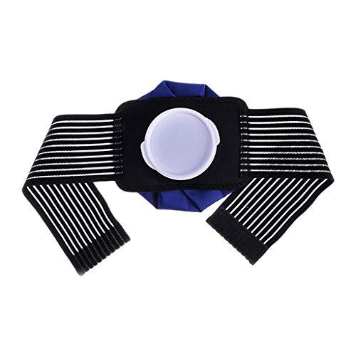 MERIGLARE Herbruikbare ijszak voor ellebogen, enkels, enkels, blauw + zwart, 02