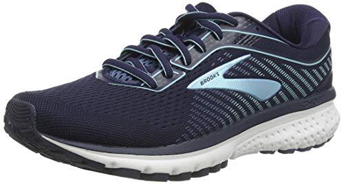 Brooks Women's Ghost 12 Running Shoe, Navy/Stellar/Blue, 3 UK