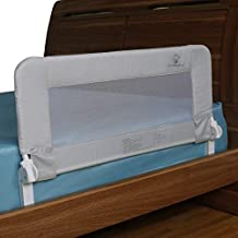 Toddler Bed Rail Guard for Kids Twin, Double, Full Size Queen & King Mattress - Bed Rails for Toddlers - Universal Fit for Slats & Boxspring - Children & Baby Bedrail by ComfyBumpy (Grey Reg)