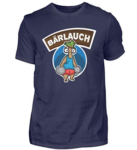 Camiseta de fitness para hombre de Bärlauch Lauch   entrenamiento muscular, Discopumper Azul (Oxford Blue). XXXL
