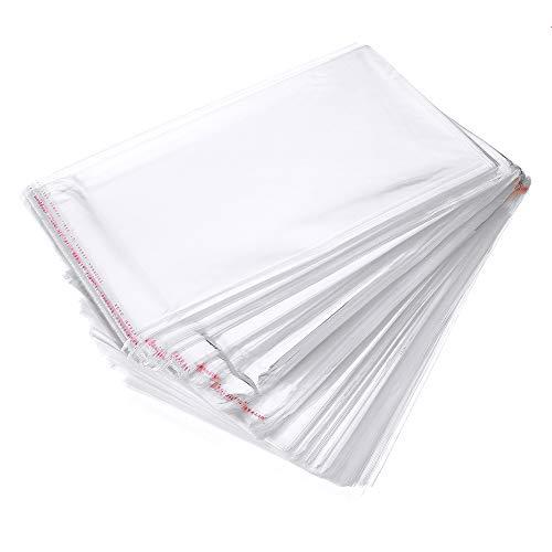 MJJEsports 500pcs transparante zelfklevende afdichting plastic OPP zak mobiele telefoon Shell verpakkingstassen, 2, 1