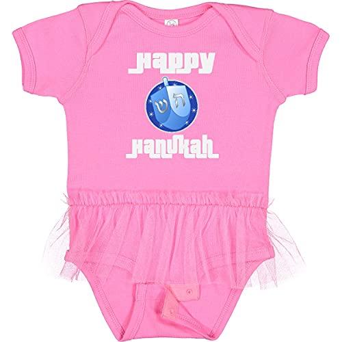 inktastic Happy Hanukkah Dreidel Infant Tutu Bodysuit 12 Months Raspberry 39543