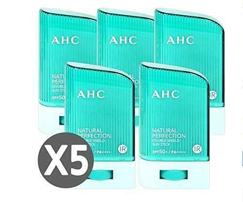 [ 5EA ] x AHC Natural Perfection Double Shield Sun Stick 22g SPF50+ PA++++ A.H.C