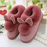 Zapatillas de mujer zapatillas Zapatillas de tibia lindas zapatillas de interior Peluche...