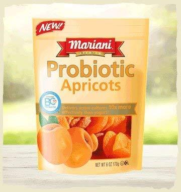Mariani Premium Probiotic Apricots, 6 OZ, Resealable Bag