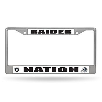 Rico Industries NFL Las Vegas Raiders Standard Chrome License Plate Frame  6 x 12.25