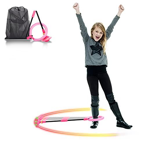 Colmanda Palla per Caviglia, Bambini Caviglia Salta Anello di Salto Della Caviglia Caviglia con Luce LED Palla, Saltare Piedi Bambini Anello di Salto Lampeggiante per Bambini Divertente Gioco