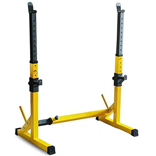 Langhantelständer Multifunktionale Kniebeugenständer Gewichtheben BankstäNder Siamesischer Pull-Up-Dip-Station HöHenverstellbar Kniebeugenständer,200 Kg Squat Rack Ständer