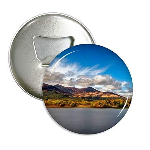Mountain Kristall Lake Wissenschaft Nature Scenery rund Flaschenöffner Kühlschrank Magnet badge Button 3Geschenk