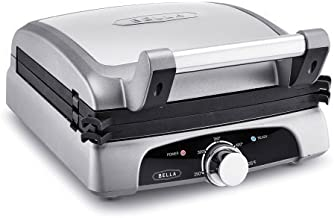 Bella 8-In-1 Grill, Opens to 180 degrees for increased capacity and flexibility