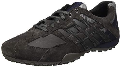 Geox Herren Uomo Snake K Sneaker, Mud/Anthracite, 43 EU