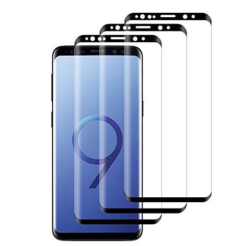 Hanbee Verre Trempé pour Samsung Galaxy S9 Plus Protection Écran pour Samsung S9 Plus Film Protection, 3 Pièces, Ultra Résistant Dureté 9H, sans Bulles, Anti Rayures