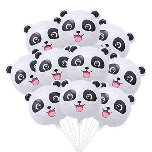 STOBOK 30St Niedlicher Panda Luftballons Alufolien Luftballons für Kindergeburtstag Panda Party Dekoration