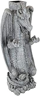 Design Toscano Zippy, the Dragon Sculptural Mail Post