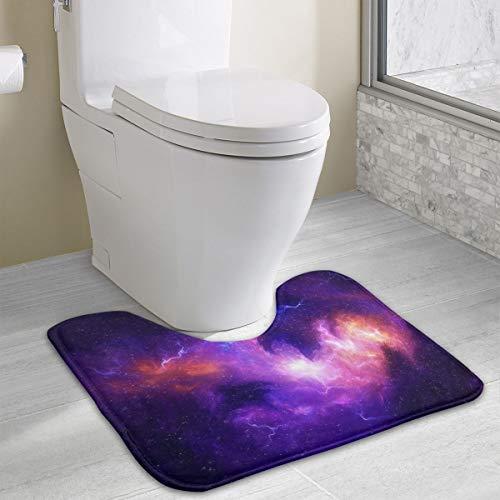Price comparison product image 785 Ocean Starry Sky Night Space Moon 3D Universe Bathroom Rug U Type Toilet Carpet Environment Friendly