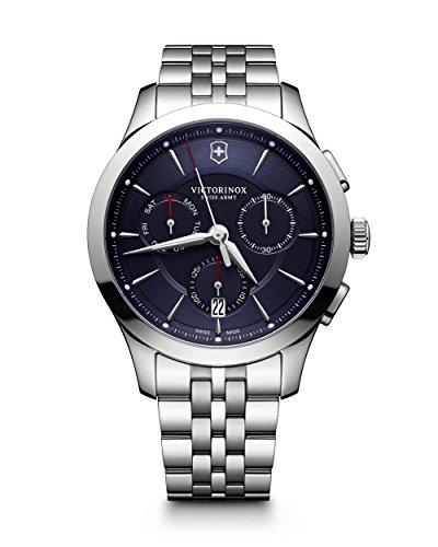 Victorinox Herren Chronograph Quarz Uhr mit Edelstahl Armband 241746
