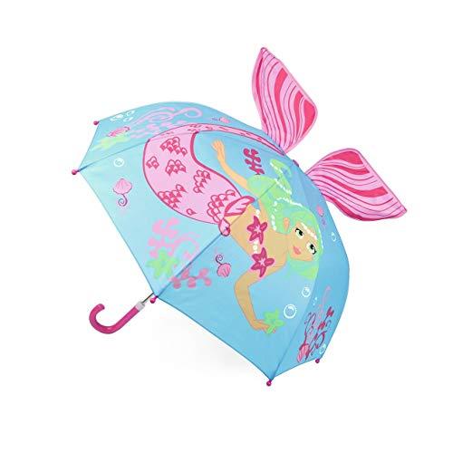 Girls Mermaid 3D Umbrella Bubble Dome Novelty Broll
