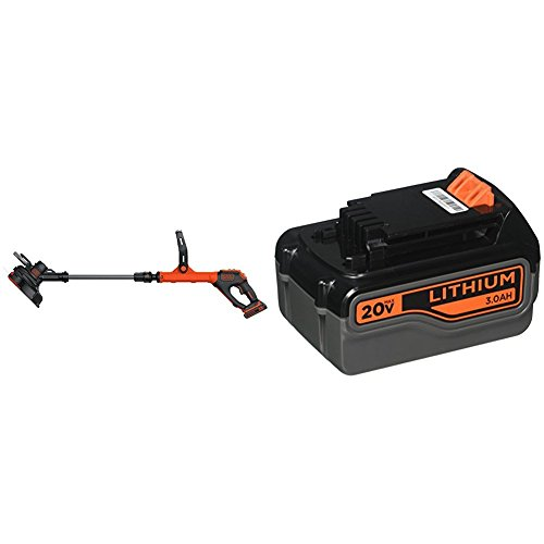 Sale!! BLACK+DECKER LSTE525 20V MAX Lithium Easy Feed String Trimmer/Edger with 3 Batteries, 2 1.5Ah...