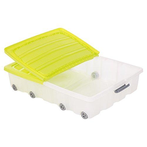 Set 2 cajas almacenamiento debajo cama, hechas plástico