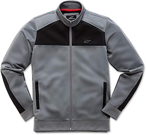 Alpinestar Pace Track Jacket Chaqueta Ligera, Logo Alpinestars de Goma, Hombre, Charcoal/Black, L
