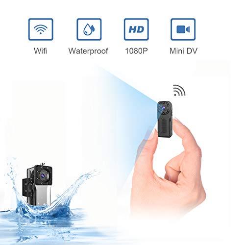 Waterproof SpyCameraWireless Hidden,ZZCP WiFi FullHD 1080P Portable Mini Nanny Cam with Night...