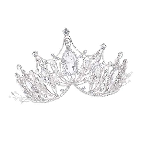 ZJN-JN Bohrer-Bits, Hochzeits-Braut-Stirnband für Geburtstag, Bankett, Party, Strass-Kopfschmuck, goldene Kristallkrone, Haar-Accessoire, Schneidstifte