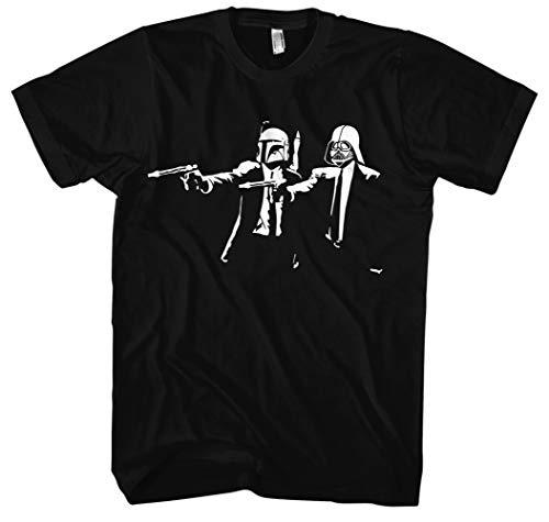 Pulp Fiction SW Männer und Herren T-Shirt   Spruch Vintage Empire Geschenk (XXXXL, Schwarz)