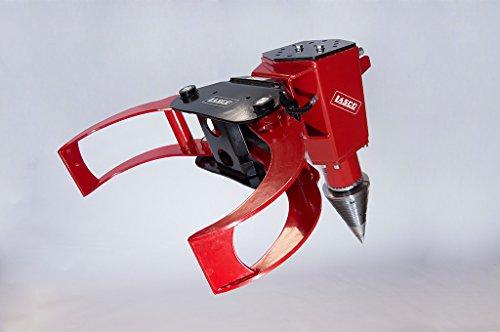 Lasco Kegelspalter Roli M1-4.7 mit Holzzange, 170 - 200 bar, 15 - 50 l/min, Baggerklasse 1,3 bis 5,0tonnen, Stammlänge 1,0 bis 2,0m, Durchmesser Holz bis ca. 70cm, Gesamtlänge 850mm, KegelØ 200mm, Kegellänge, 350mm, Gewicht ca. 80kg, Kegelspitze ausstauschbar,Trägermaschine: Hydr-Leistung: 170-200bar, Ölmenge in Liter 15-50l/min., Bagger Einsatzgewicht: 1,3bis 5,0 to., Holzlänge: 200cm Baggeraufnahme gegen Aufpreis siehe Beschreibung