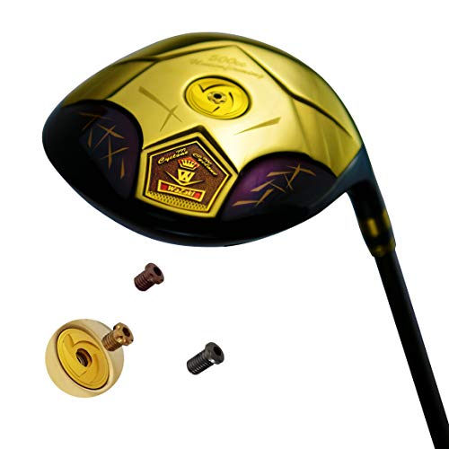 wazaki Japan 14K Gold Finish Cyclone III High COR Open Face Titanium Driver Golf Club Headcover (10.5 Degree Loft,Regular Flex,Pro Graphite Shaft,Right Handed,500cc unconfirming Size)