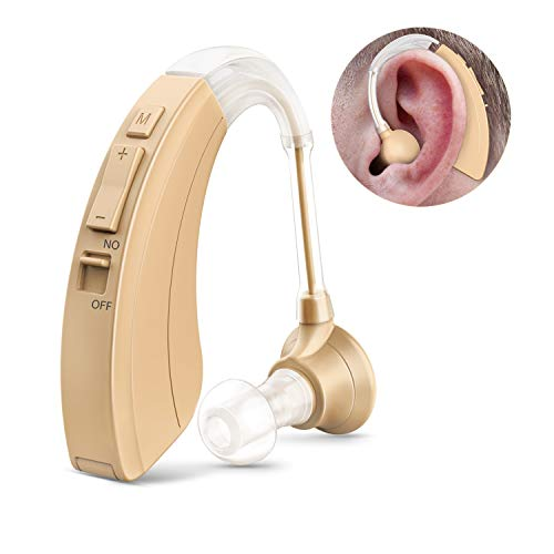 Digital Hearing Amplifier FDA Approved Personal Sound Device for Adults & Seniors, 500 Hours Per Battery Life and Hearing Aid Cleaning Brush Included