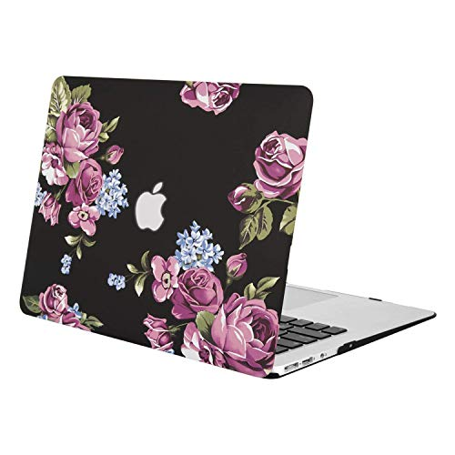MOSISO Hülle Kompatibel mit MacBook Air 13 - Ultra Slim Plastik Matt Hartschale Case mit Muster Kompatibel mit MacBook Air 13 Zoll (A1369 / A1466, 2010-2017 Version), Pfingstrose